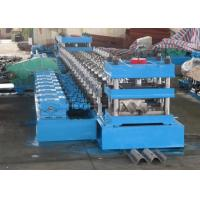 Best 2 Waves Highway Guardrail Roll Forming Machine Fually Automatic Control by Panasonic PLC wholesale