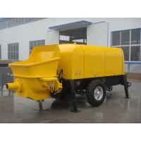Cheap 50m3/h Diesel Trailer Mounted Portable Concrete Pump Concrete trailer pump for sale