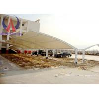 Quality Fabric Membrane Vehicle Parking Sheds Outside Shade Structures Wind Resistance wholesale