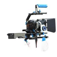 Cheap Dslr rig movie kit with shoulder mount+Hand Grip+Follow Focus+Matte BoxFor Camcorder for sale
