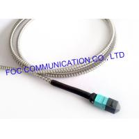 Best MPO Armored Multimode Fiber Optic Cable Cord OM3 MM 50/125um 12 Core wholesale