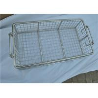 Buy cheap Stainless Steel Metal Wire Basket With Handle For Put Storage from wholesalers