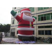Best PVC Coated Inflatable Santa Claus , Inflatable Christmas Decorations Fireproof wholesale