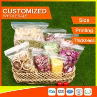 Best Customized Packing Ziplock Bags LDPE Poly Bags Food Packaging Clear Grip Seal wholesale