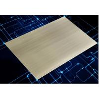 Buy cheap 1070 Anodized Aluminum Sheet Champagne Gold Straight Brushed For Panels from wholesalers
