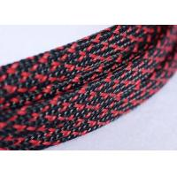 China Wear Resistant Expandable Braided Polyester Sleeving For Cable Harness Cover on sale