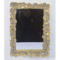Best Handcrafted Vintage Style Large Gold Framed Wall Mirrors With Ginkgo Leaf Border wholesale