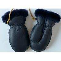 Best Classic Children's Shearling Sheepskin Mittens , Genuine Lamb Sueded Gloves for Baby wholesale