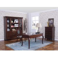Best Rubber Wood Home office room furniture bookcase set by Glass door with Shelves and Study desk Computer table wholesale