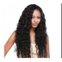 Best Water Wave / Kinky Curly Human Hair Wigs 100% Brazilian Wig , Hair Extension Double Wefted wholesale