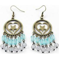 Best zinc alloy earring with plastic beads wholesale