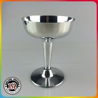 China Electric Plating Silver Plastic Wine Goblet on sale