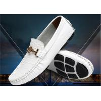 Best Crocodile Pattern Loafer Slip On Shoes With Metal Buckle / Anti Slip Rubber Back Counter wholesale