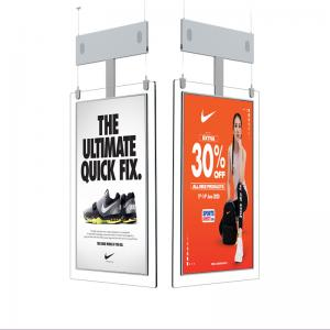 Best 65'' Slim TFT Hanging Double Sided Lcd Screen 700cd/M2 wholesale