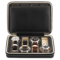 Best 8 Grids Watch Display Box Faux Material Zippered Travel Watch Collector wholesale
