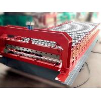Quality Color Steel Roof Panel Roll Forming Machine 12-18 Forming Stations wholesale