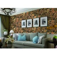 Best Chinese Style Embossed 3D Home Room Decoration Wallpaper For Saloon / TV Background wholesale