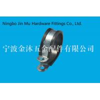 Quality Industrial Rubber Cushioned Stainless Steel Gas Hose Clamps Round Head Type wholesale