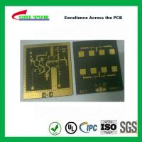 Best 3 Layer TLY-9+HT1.5 SOFT GOLD Smt PCB Assembly Service with Black Solder wholesale