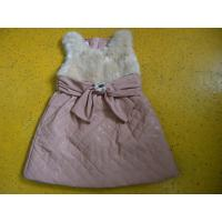 Best Big Bow Waist 3 Year Little Girls Winter Dresses Sleeveless With Faux Leather Mini Skirt wholesale