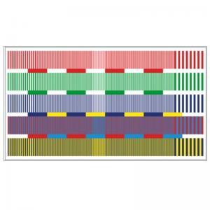 Best Transmissive HDTV Color Resolution Test Chart Sineimage YE0222 wholesale