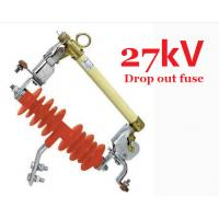 Red Silicon Rubber Drop Out Fuse Safety IEC Standard For Overhead Line