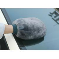 Best Abrasion Resistant Sheepskin Car Wash Mitt Gentle Surface For Polishing Mirror wholesale
