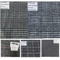 Best Plaid Design Prince of Wales Stretch Rayon Polyester Fabrics wholesale