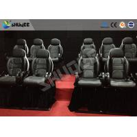Best Thrilling 5D Movie Theater Motion Cienma Luxury Black Movement Chairs wholesale