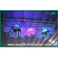 China 1m Dia Inflatable Hanging Lily Flower With RGB Lighting Decoration on sale