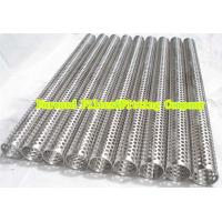 Best Custom Round Perforated Stainless Steel Pipe With Longitudinal Seam , Filter Support wholesale