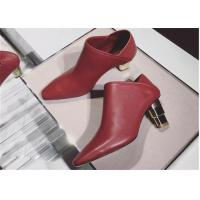 Best Plain Upper Closed Toe Mule Heels Red Heeled Ankle Boots Dual Purpose Shoes wholesale