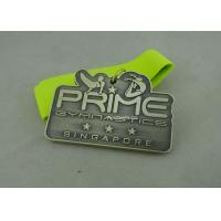 Best 3.0 Inch Sports Die Cast Medals Zinc Alloy 3D With Antique Silver Plating wholesale