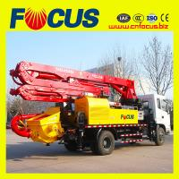 Best 21m truck mounted boom pump with sinotruck 4x2 wholesale