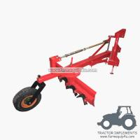 Buy cheap 5GBRW - tractor 3point hitch grader blade with rippers with rear support wheel from wholesalers