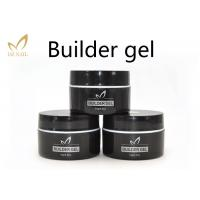 Best Private Label UV Nail Builder Gel Clear , Hard Nail Extension Soak Off Jelly Gel Polish wholesale