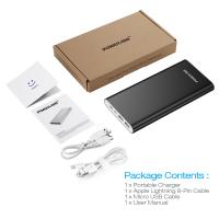 Charging Black 20000mah Usb Power Bank External Battery Pack With Lightning And