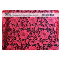 Cheap Fashion Underwear Embroidered Nylon Cotton Lace Fabric / Knitted Lace Fabric wholesale