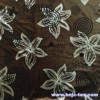 China Delicate polyester velvet and spandex flower printing fabric for decoration and upholstery on sale