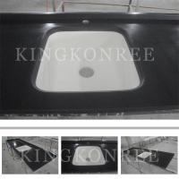 Cheap Square man-made solid surface kitchen countertop and sink for ...
