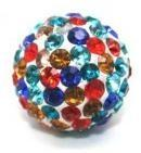 Cheap OEM 8mm Green / Red / Gold / White / Purple / Blue / Roseate Crystal Pave Ball for sale
