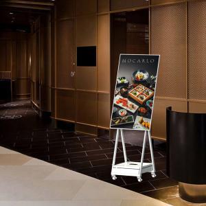Best menu board for resturants monitor 1920*1080 floor stand digital signage wholesale