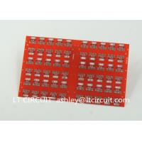 Best Red LPI Solder Mask Double Sided PCB 0.8mm Lead Free HASL White Silkscreen wholesale