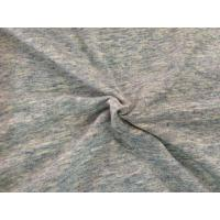 Best Gray Drop Needle Interlock Knit Fabric With Wicking & Anti - Bacterial Finish wholesale