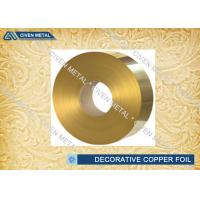 Best Brass Rolled Copper Foil For Decorative Industry , copper sheet for crafts wholesale