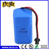 Best rechargeable 7.4v 4400mah lithium ion battery pack for power bank/helmet lamp wholesale
