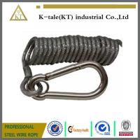 Best spring wire rope sling ,black coated steel wire rope sling wholesale