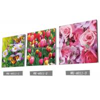 Cheap Decoration Flower Pictures Custom Lenticular Printing Frameless PET Printing for sale