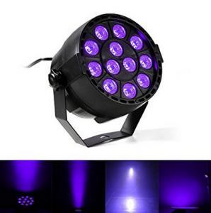 Best IP33 Voice-control Violet Led Disco Lights with Black + Transparent Cover wholesale