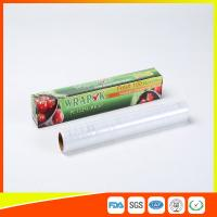 Best Plastic Stretch PE Cling Film Wrap On Roll Food Grade With Paper Box wholesale